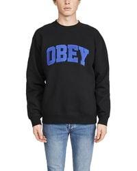 Obey Uni Crew Neck Sweatshirt - Black