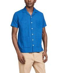 Corridor NYC Slub Indigo 4 Pocket Shirt - Blue