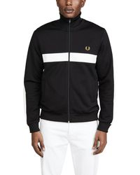 Fred Perry Contrast Panel Track Jacket - Black