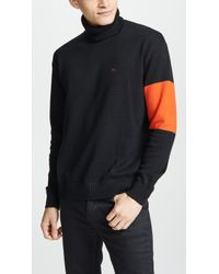 Calvin Klein - Colorblock Turtleneck Jumper - Lyst
