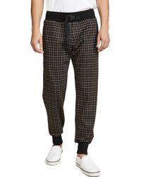 Paul Smith Plaid Belted Sweatpants - Black