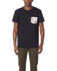 Naked & Famous - Pockettee - Black + Antique Botanical Painting, - Lyst