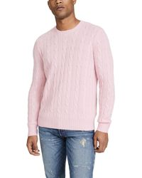 Polo Ralph Lauren Cashmere Cable Knit Sweater - Pink
