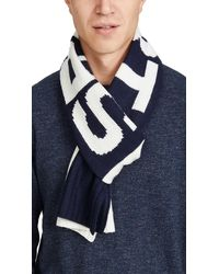 Polo Ralph Lauren Polo Sport Colorblock Knit Scarf - Blue