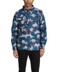 Barbour Ocean Camo Overshirt - Blue