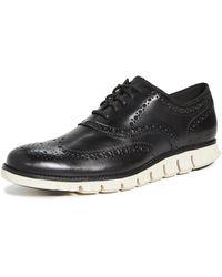 Cole Haan Zerogrand Wingtip Oxford Shoes - Black