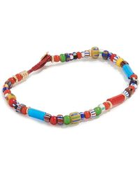 Mikia White Hearts Bracelet - Multicolor