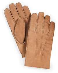 Polo Ralph Lauren Shearling Icon Gloves - Natural