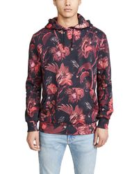 Paul Smith All Over Floral Print Hooded Sweatshirt - Multicolor