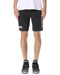 RVCA - Staff Iii Dual Layer Shorts - Lyst