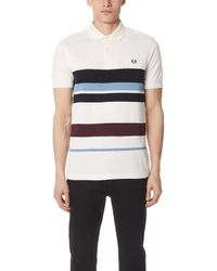 Fred Perry - Multi Stripe Pique Shirt - Lyst