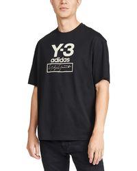 Y-3 Logo-print Cotton-jersey T-shirt - Black