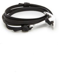 Miansai Anchor Leather Bracelet - Black