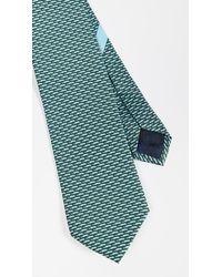 Ferragamo Alligator Print Classic Tie - Green