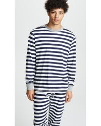 Sleepy Jones Keith Knit Tee Shirt - Blue