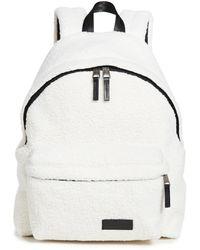 Eastpak Faux Shearling Padded Pak'r Backpack - Natural