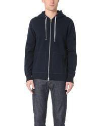 Reigning Champ Mid Weight Terry Zip Hoodie - Blue