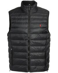Polo Ralph Lauren Packable Recycled Nylon Down Vest - Black