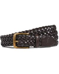 Polo Ralph Lauren 30 Mm West End Braid Belt - Brown