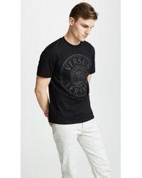 Versus Slim Jersey Uomo T-shirt - Black