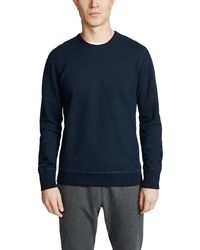Reigning Champ Mid Weight Terry Sweatshirt - Blue