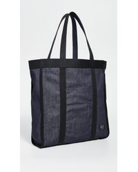 Porter X Orgabits Reversible Denim Tote Bag - Black
