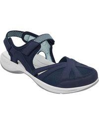 Easy Spirit Splash Nubuck Flat Hiking Sandals - Blue