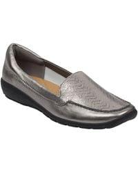 Easy Spirit Abide Leather Casual Flats - Multicolor