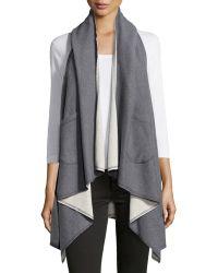 Helmut Lang Helmut Plex Hooded Puffer Vest In Gray