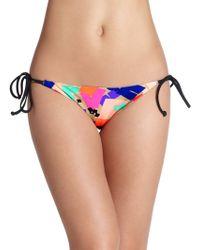 Shoshanna Confetti Squares Clean String Bikini Bottom multicolor - Lyst