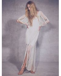 Free People In The Crosshairs Maxi Dress - Lyst