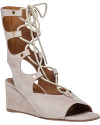 Chloé | Lace-Up Wedge Sandals | Lyst