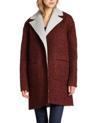Rebecca Minkoff Shuttle Tweed Coat - Red