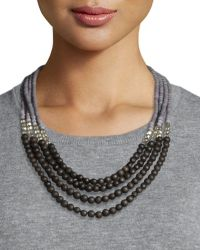 Peserico - Beaded Multi-strand Necklace - Lyst