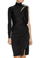 Versace One-shoulder Embellished Jersey Dress - Lyst