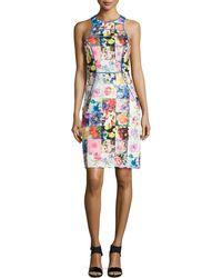 Ranna Gill - Sleeveless Floral-print Sheath Dress - Lyst