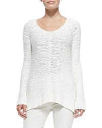 Donna Karan New York Chunky-Knit V-Neck Sweater - Lyst