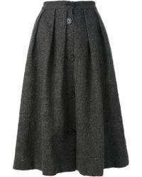 Jean Paul Gaultier Pleated Skirt - Lyst