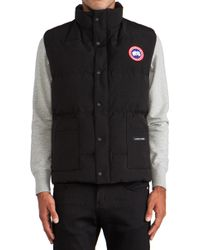 Canada Goose Black Freestyle Vest - Lyst
