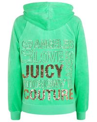 Juicy Couture Sequin Print Relaxed Velour Hoodie - Lyst