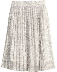 H&M Pleated Skirt - Lyst