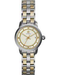 Tory Burch | Tory Two-tone Stainless Steel Bracelet Watch/28mm | Lyst