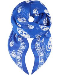 Alexander McQueen Skull-Print Silk-Chiffon Scarf - For Women - Lyst