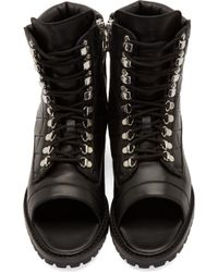 Balmain - Black Quilted High Sandals - Lyst