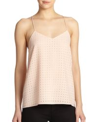 Tibi Laser Cut-Out Camisole - Lyst