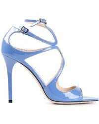 Jimmy Choo Blue 'Lang' Sandals - Lyst