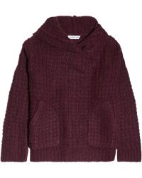 Elizabeth And James Hooded Chunky-knit Sweater - Lyst