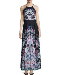 Phoebe - Halter-neck Floral-print Maxi Dress - Lyst