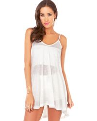 AKIRA Summer Cover Up Dress in Ivory - White