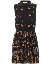 Vanessa Bruno Athé Pixel-Embroidered Sleeveless Dress - Lyst